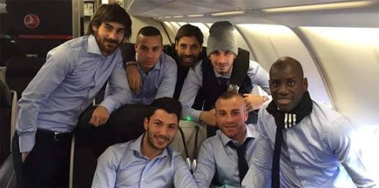 Beşiktaş'a Uçakta İlginç Sürpriz!
